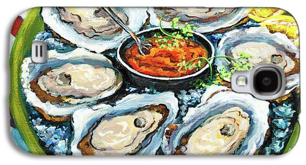 Dine Galaxy S4 Cases - Oysters on the Half Shell Galaxy S4 Case by Dianne Parks
