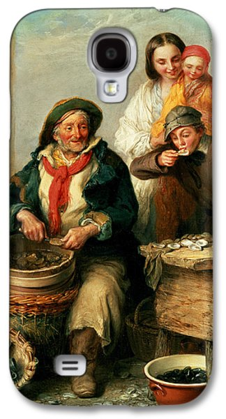 Victorian Photographs Galaxy S4 Cases - Oysters, Young Sir? Galaxy S4 Case by Henry Perlee Parker