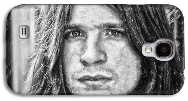 Person Pastels Galaxy S4 Cases - Ozzy Osbourne Galaxy S4 Case by Antony McAulay