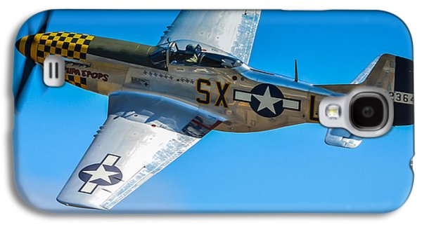 P51 Photographs Galaxy S4 Cases - P-51 Mustang Break Out Roll Galaxy S4 Case by Puget  Exposure