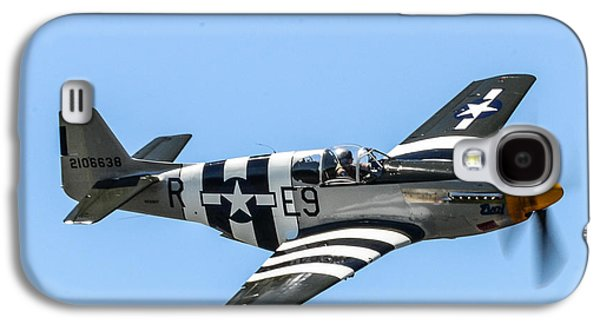 P51 Photographs Galaxy S4 Cases - P-51 Mustang Fighter Galaxy S4 Case by Puget  Exposure