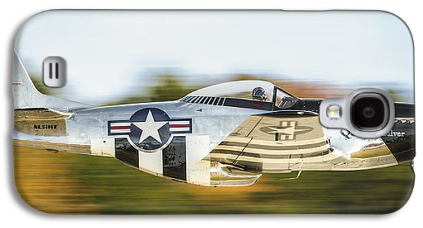 P51 Photographs Galaxy S4 Cases - P-51 Mustang Flyby Galaxy S4 Case by Brian Young