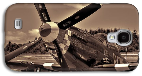 P51 Photographs Galaxy S4 Cases - P-51 Mustang Speedball Alice Fighter Galaxy S4 Case by David Patterson