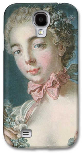 Flora Drawings Galaxy S4 Cases - Head Of Flora Galaxy S4 Case by Francois Boucher