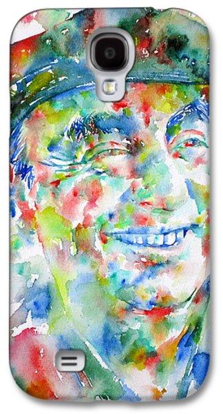 Pablo Galaxy S4 Cases - PABLO NERUDA - watercolor portrait.1 Galaxy S4 Case by Fabrizio Cassetta
