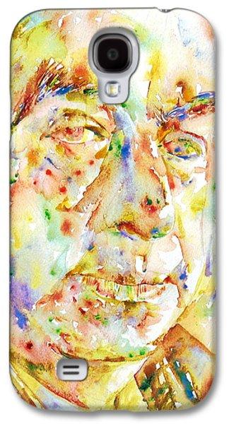 Pablo Galaxy S4 Cases - PABLO NERUDA - watercolor portrait.3 Galaxy S4 Case by Fabrizio Cassetta