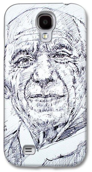 Pablo Galaxy S4 Cases - PABLO PICASSO - drawing portrait Galaxy S4 Case by Fabrizio Cassetta