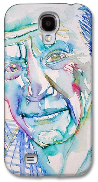 Pablo Galaxy S4 Cases - PABLO PICASSO- portrait Galaxy S4 Case by Fabrizio Cassetta
