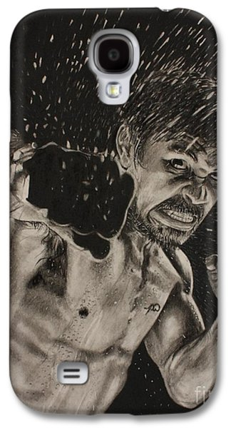 Boxer Drawings Galaxy S4 Cases - Pac-man Galaxy S4 Case by Joshua Navarra
