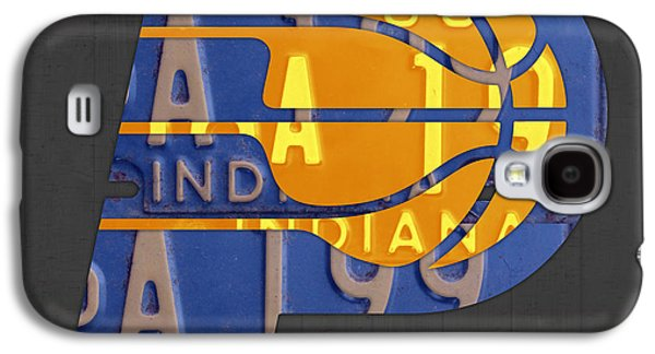 Pacers Galaxy S4 Cases - Pacers Basketball Team Logo Vintage Recycled Indiana License Plate Art Galaxy S4 Case by Design Turnpike