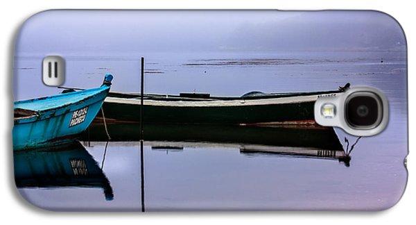 Edgar Laureano Photographs Galaxy S4 Cases - Pacheco blue boat Galaxy S4 Case by Edgar Laureano
