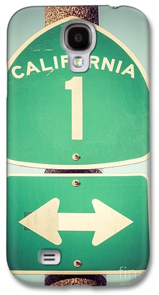 California Galaxy S4 Cases - Pacific Coast Highway Sign California State Route 1  Galaxy S4 Case by Paul Velgos