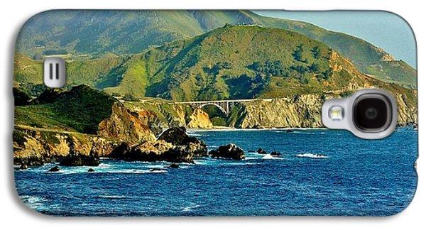 Bixby Bridge Galaxy S4 Cases - Pacific Coast Panorama Galaxy S4 Case by Benjamin Yeager