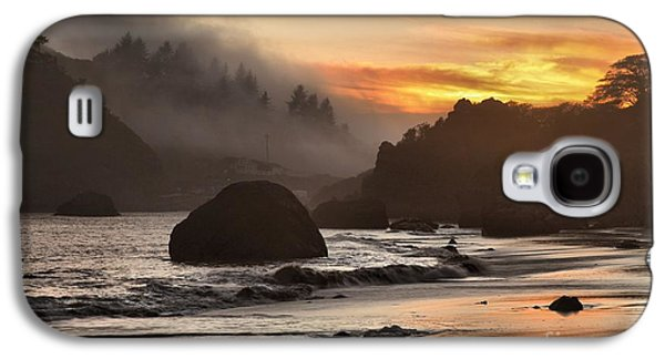 Foggy Beach Galaxy S4 Cases - Pacific Fog And Fire Galaxy S4 Case by Adam Jewell