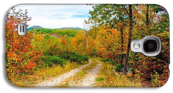 Rural Maine Roads Galaxy S4 Cases - Maine Autumn Galaxy S4 Case by Kevin Eckert Smith