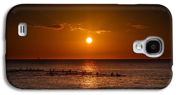 Top Seller Galaxy S4 Cases - Paddle into the sunset in Hawaii Galaxy S4 Case by Tin Lung Chao