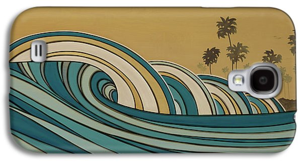 The Hills Mixed Media Galaxy S4 Cases - Paddle Out Galaxy S4 Case by Joe Vickers