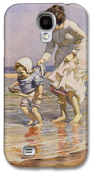 On The Beach Galaxy S4 Cases - Paddling Galaxy S4 Case by William Kay Blacklock