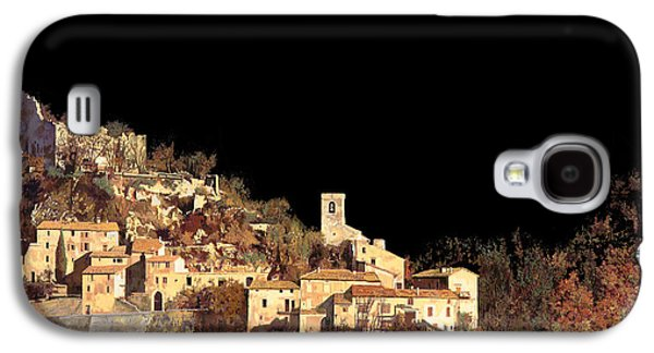 Night Sky Paintings Galaxy S4 Cases - Paesaggio Scuro Galaxy S4 Case by Guido Borelli