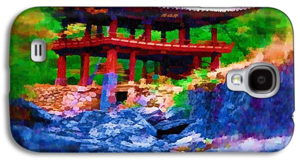 Photo Manipulation Paintings Galaxy S4 Cases - Pagoda Shelter Galaxy S4 Case by Mario Carini
