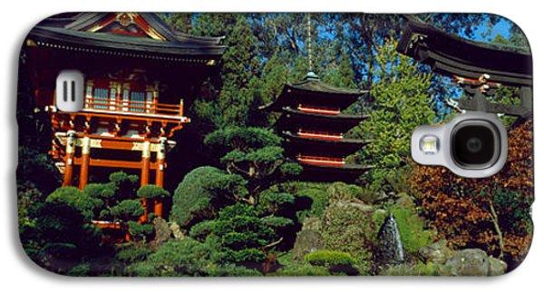 Garden Scene Galaxy S4 Cases - Pagodas In A Park, Japanese Tea Garden Galaxy S4 Case by Panoramic Images