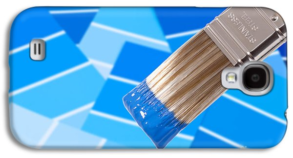 Home Improvement Galaxy S4 Cases - Paint Brush - Blue Galaxy S4 Case by Amanda And Christopher Elwell