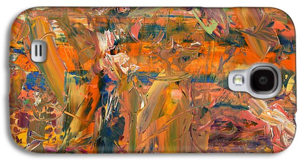 Modern Abstract Galaxy S4 Cases - Paint Number 45 Galaxy S4 Case by James W Johnson