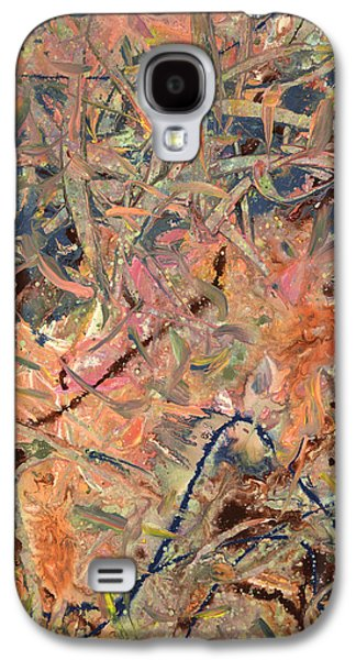 Blue Abstracts Drawings Galaxy S4 Cases - Paint number 52 Galaxy S4 Case by James W Johnson