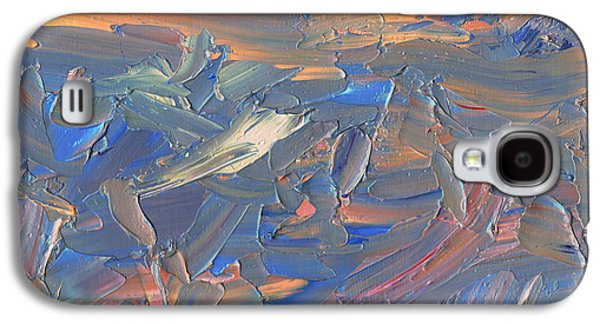 Blue Abstracts Drawings Galaxy S4 Cases - Paint number 58C Galaxy S4 Case by James W Johnson