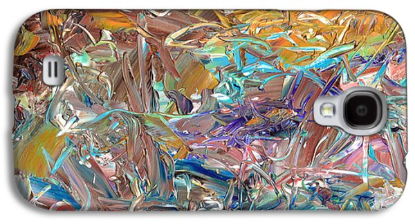 Abstract Expressionist Galaxy S4 Cases - Paint number46 Galaxy S4 Case by James W Johnson
