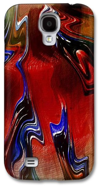 Abstract Digital Digital Galaxy S4 Cases - Paint Spill Galaxy S4 Case by Amanda Moore