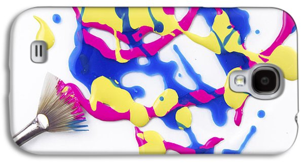 Messy Photographs Galaxy S4 Cases - Paint Splatter Galaxy S4 Case by Diane Diederich
