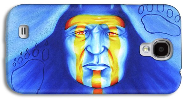Airbrush Galaxy S4 Cases - Painted Bear Galaxy S4 Case by Robert Martinez
