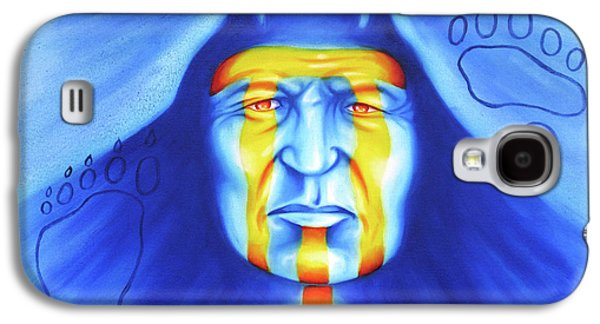 Native American Spirit Portrait Paintings Galaxy S4 Cases - Painted Bear Galaxy S4 Case by Robert Martinez