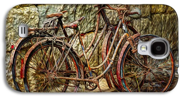 Sports Photographs Galaxy S4 Cases - Painted Bikes Galaxy S4 Case by Debra and Dave Vanderlaan