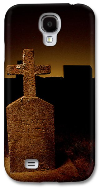 Final Resting Place Galaxy S4 Cases - Painted Cross in Graveyard Galaxy S4 Case by Jean Noren