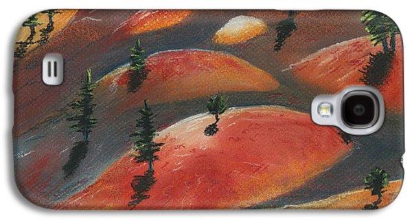 Surrealism Pastels Galaxy S4 Cases - Painted Dunes Galaxy S4 Case by Anastasiya Malakhova