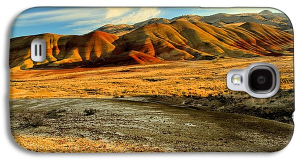 Surreal Landscape Galaxy S4 Cases - Painted Hills And Blue Skies Galaxy S4 Case by Adam Jewell
