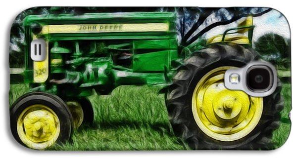 Farmers Field Galaxy S4 Cases - Painted John Deere Galaxy S4 Case by Cheryl Young
