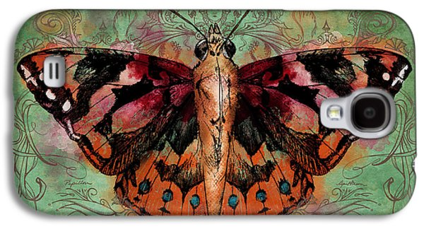 Butterflies Galaxy S4 Cases - Painted Lady Galaxy S4 Case by April Moen
