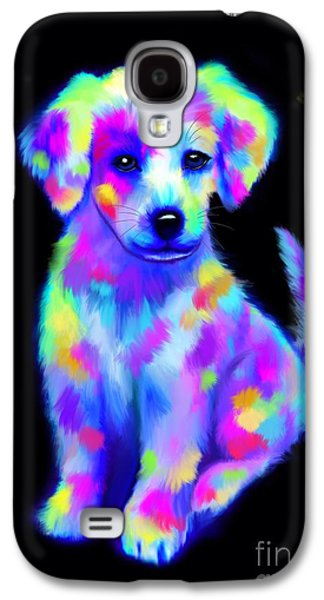 Painted Pup 2 Galaxy S4 Case by Nick Gustafson