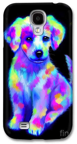 Puppy Digital Art Galaxy S4 Cases - Painted Pup 2 Galaxy S4 Case by Nick Gustafson
