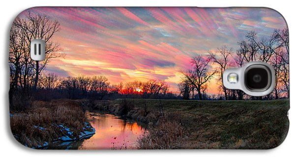 Indiana Winters Galaxy S4 Cases - Painted Sky of Pink and Blue Galaxy S4 Case by Jackie Novak