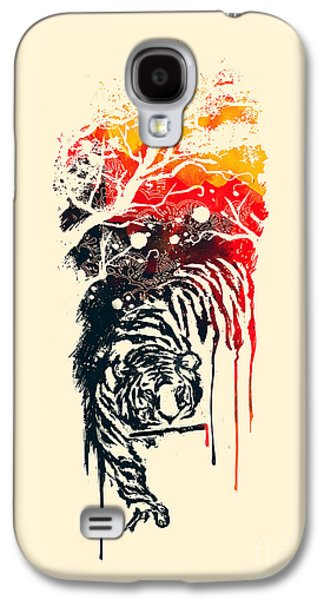 Tiger Galaxy S4 Cases - Painted Tyger Galaxy S4 Case by Budi Satria Kwan