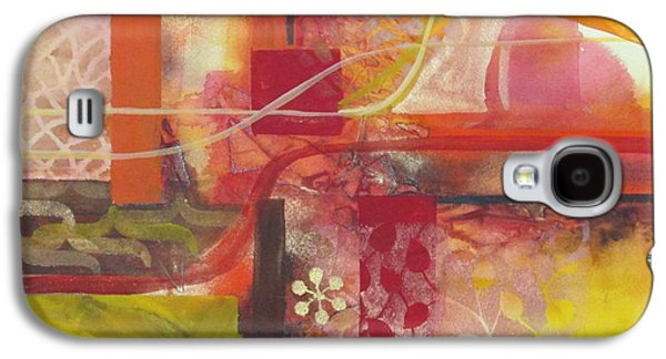 Curvilinear Paintings Galaxy S4 Cases - Painting is poetry which is seen and not heard Galaxy S4 Case by Patricia Mayhew Hamm