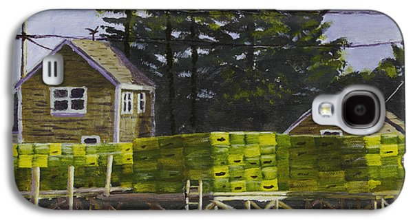 Maine Shore Galaxy S4 Cases - Lobster Traps in Port Clyde Maine Galaxy S4 Case by Keith Webber Jr