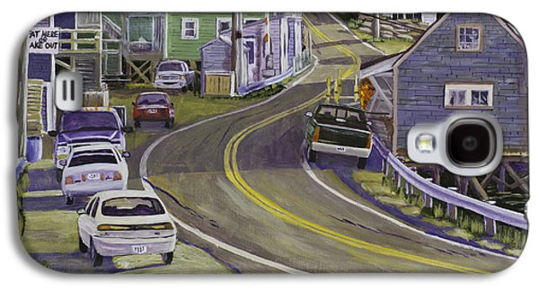 Maine Roads Galaxy S4 Cases - Main Street South Bristol Maine Galaxy S4 Case by Keith Webber Jr