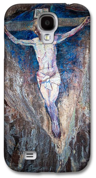 Crucifixtion Galaxy S4 Cases - Painting of the Crucifixion Galaxy S4 Case by Roy Pedersen