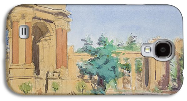 Park Scene Paintings Galaxy S4 Cases - Palace of Fine Arts Galaxy S4 Case by Walter Lynn Mosley