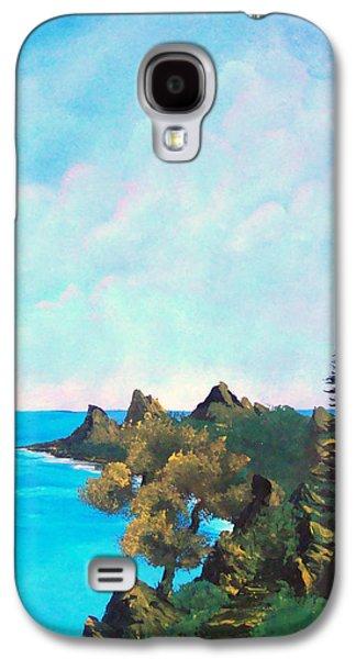 Bob Ross Paintings Galaxy S4 Cases - Palawan Galaxy S4 Case by Richard Bantigue